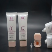 Wholesale Cosmetic Oval Printed Clear Plastic Tube With Double Screw Cap