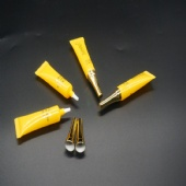5ml Suqeeze Tube Packaging Small Tubes With Gold Color Cap