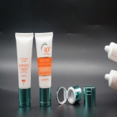 New Design Colored Plastic Sunscreen Packaging Tube With Mirror Cap