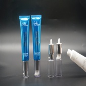 Luxury Poly foil ABL Laminated Cosmetic Tube With Airless Pump Cap